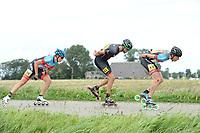 INLINESKATEN: HALLUM: 19-08-2017, Bartlehiem Skeelertocht, ©foto Martin de Jong