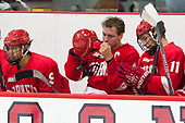 Noah Bauld (Cornell - 9), Jake Weidner (Cornell - 7), Eric Freschi (Cornell - 11) - The Harvard University Crimson defeated the visiting Cornell University Big Red on Saturday, November 5, 2016, at the Bright-Landry Hockey Center in Boston, Massachusetts.