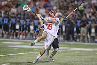 College Park, MD - April 29, 2017: Maryland Terrapins Ben Chisolm (39) scores a goal during game between John Hopkins and Maryland at  Capital One Field at Maryland Stadium in College Park, MD.  (Photo by Elliott Brown/Media Images International)