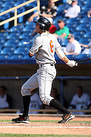 June 11th 2008:  Jason White of the Delmarva Shorebirds, Class-A affiliate of the Baltimore Orioles, during a game at Classic Park in Eastlake, OH.  Photo by:  Mike Janes/Four Seam Images