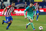 Atletico de Madrid's midfielder Koke Resurrecccion (L) and FC Barcelona's forward Leo Messi (R) in action during the match of Copa del Rey between Atletico de  Madrid and Futbol Club Barcelona at Vicente Calderon Stadium in Madrid, Spain. February 1st 2017. (ALTERPHOTOS/Rodrigo Jimenez)