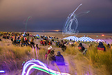 USA, Washington State, Long Beach Peninsula, International Kite Festival, fireworks show and lighted kite flying