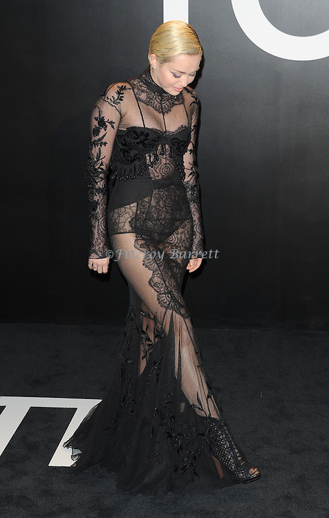 Miley Cyrus arriving at the Tom Ford Autumn/Winter 2015 Womenwears Collection held at Milk Studios Los Angeles, CA. February 20, 2015.