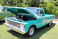 MEGAN DAVIS/MCDONALD COUNTY PRESS A 1964 Ford F100 caught the eye of many show-goers last year. A note in the window indicated the truck was originally purchased by Wilbert Shockley, of Wheaton, in 1963. It was then owned and restored by his son, David Shockley.