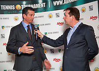 Rotterdam, Netherlands, Januari 06, 2016,  Press conference ABNAMROWTT,  Edward van Cuilenborg interviews Tournament Director Richard Krajicek<br /> Photo: Tennisimages/Henk Koster