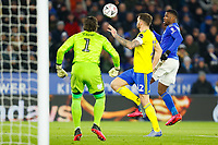 4th March 2020; King Power Stadium, Leicester, Midlands, England; English FA Cup Football, Leicester City versus Birmingham City; Kelechi Iheanacho of Leicester City attempts to win the chip into the area