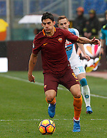 Roma&rsquo;s Diego Perotti in action during the Italian Serie A football match between Roma and Napoli at Rome's Olympic stadium, 4 March 2017. <br /> UPDATE IMAGES PRESS/Riccardo De Luca