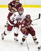 Kaitlin Spurling (Harvard - 17), Allison Szlosek (BC - 8) - The Harvard University Crimson defeated the Boston College Eagles 5-0 in their Beanpot semi-final game on Tuesday, February 2, 2010 at the Bright Hockey Center in Cambridge, Massachusetts.