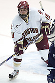 Brock Bradford - The Boston College Eagles and University of New Hampshire earned a 3-3 tie on Thursday, March 2, 2006, on Senior Night at Kelley Rink at Conte Forum in Chestnut Hill, MA.  Boston College honored its three seniors, captain Peter Harrold and alternate captains Chris Collins and Stephen Gionta, before the game.