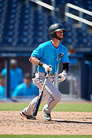 Miami Marlins Evan Edwards (28) at bat during an Instructional League game against the Washington Nationals on September 26, 2019 at FITTEAM Ballpark of The Palm Beaches in Palm Beach, Florida.  (Mike Janes/Four Seam Images)