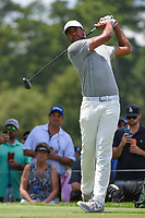 Tony Finau (USA) watches his tee shot on 4 during round 2 of the 2019 Tour Championship, East Lake Golf Course, Atlanta, Georgia, USA. 8/23/2019.<br /> Picture Ken Murray / Golffile.ie<br /> <br /> All photo usage must carry mandatory copyright credit (© Golffile | Ken Murray)
