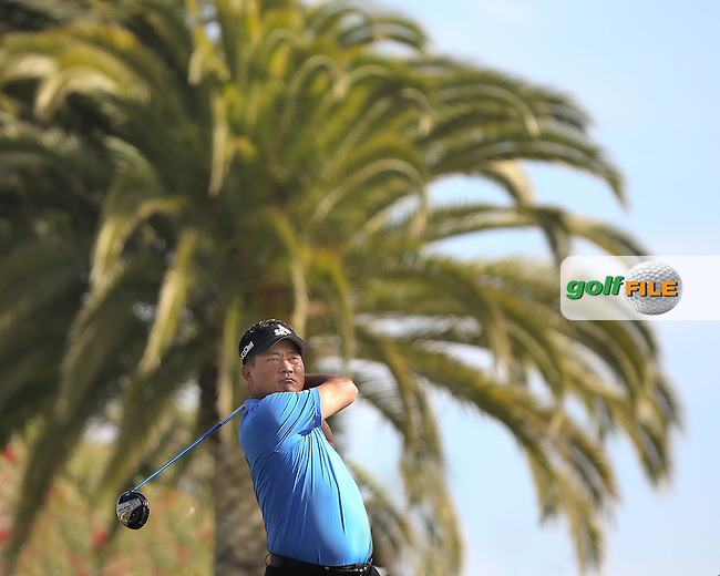 16 FEB 13 KJ Choi on the 3rd tee during Sunday's Final Round of The Northern Trust Open at Riviera Country Club in Pacific Palisades,California. photo credit :  (kenneth e. dennis/kendennisphoto.com)