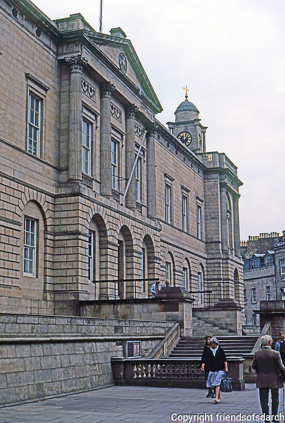 "Edinburgh: Scottish Records Office. Robert Adam ""Founded 1774"".   Photo '90."