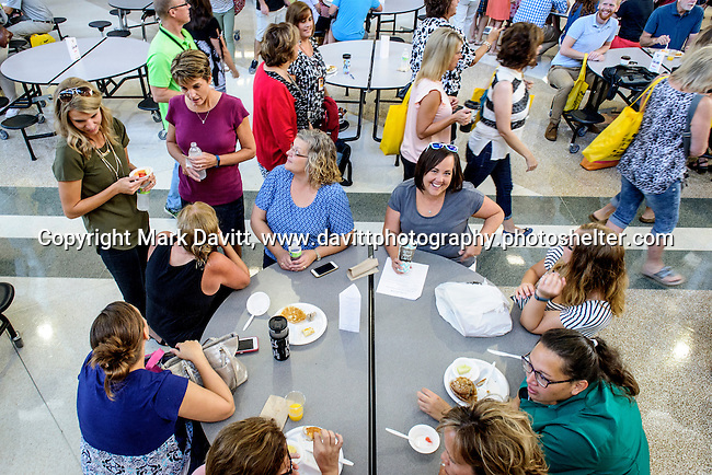 Southeast Polk teachers were welcomed back to school by Altoona, Mitchellville and Pleasant Hill Chamber of Commerce during a breakfast held in their honor at the School Aug. 19.