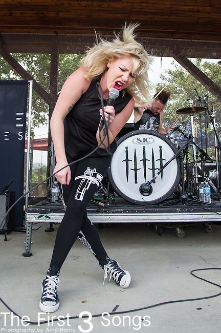 Anna Worstell of Five Knives performs during the Vans Warped Tour at the Klipsch Music Center in Indianapolis, IN.