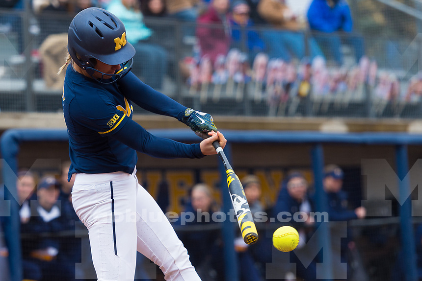 University of Michigan women's softball;11-3,3-0, doubleheader victory over Kent State at Alumni Field in Ann Arbor, MI on Mar 19, 2017.