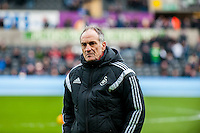 Francesco Guidolin, Manager of Swansea City   prior to the Barclays Premier League match between Swansea City and Southampton  played at the Liberty Stadium, Swansea  on February 13th 2016