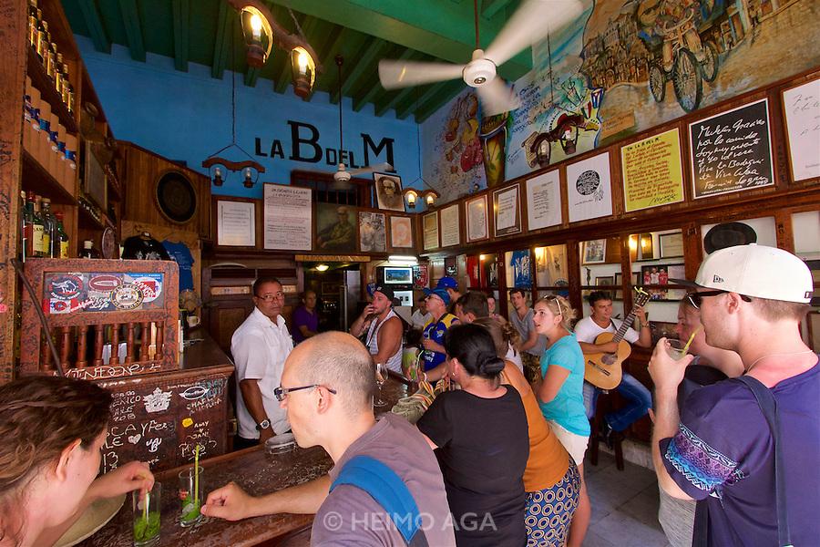 Havana, Cuba. La Habana Vieja (Old Habana). La Bodeguita del Medio (B del M) - where Ernest Hemingway took his Mojitos.