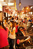 VIETNAM, Hanoi, people gather in large numbers to eat ice cream on a hot Summer night in downtown Hanoi