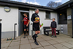Keswick 1 Kendal 1, 15/04/2017. Fitz Park, Westmoreland League. The Referee waits leads the players onto the pitch. Photo by Paul Thompson.