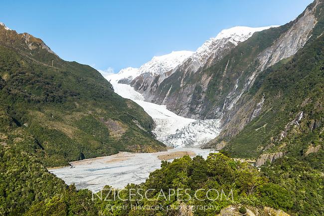 Franz Josef Glacier , Westland Tai Poutini National Park, West Coast, UNESCO World Heritage Area, New Zealand, NZ