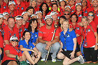 Jon Rahm (ESP) winner of the DP World Tour Championship 2017 with the Marshals at the Jumeirah Golf Estates, Dubai, United Arab Emirates. 19/11/2017<br /> Picture: Golffile | Thos Caffrey<br /> <br /> <br /> All photo usage must carry mandatory copyright credit     (© Golffile | Thos Caffrey)