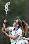 22 February 2015: Duke's Katie Trees. The Duke University Blue Devils hosted the College of William & Mary Tribe on the West Turf Field at the Duke Athletic Field Complex in Durham, North Carolina in a 2015 NCAA Division I Women's Lacrosse match. Duke won the game 17-7.