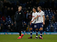 7th March 2020; Turf Moor, Burnley, Lanchashire, England; English Premier League Football, Burnley versus Tottenham Hotspur;  Burnley reserve keeper Joe Hart shares a joke with former England team mates Dele Alli and Eric Dier of Tottenham Hotspur at the final whistle