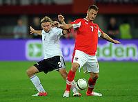 Fussball International  WM Qualifikation 2014   11.09.2012 Oesterreich - Deutschland Marcel Schmelzer (li, Deutschland)  gegen Marko Arnautovic (Oesterreich)