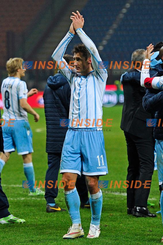 Miroslav Klose Lazio<br /> Milano 27-01-2015 Stadio Giuseppe Meazza - Football Calcio Coppa Italia Milan - Lazio. Foto Giuseppe Celeste / Insidefoto