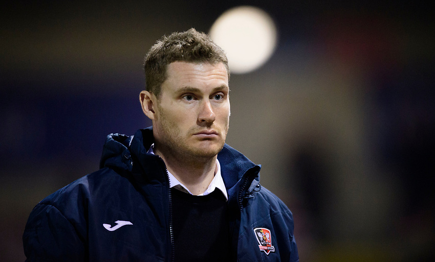 Exeter City manager Matt Taylor<br /> <br /> Photographer Chris Vaughan/CameraSport<br /> <br /> The EFL Sky Bet League Two - Lincoln City v Exeter City - Tuesday 26th February 2019 - Sincil Bank - Lincoln<br /> <br /> World Copyright © 2019 CameraSport. All rights reserved. 43 Linden Ave. Countesthorpe. Leicester. England. LE8 5PG - Tel: +44 (0) 116 277 4147 - admin@camerasport.com - www.camerasport.com