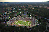 16 September 2006: An Aerial photograph of the new Stanford Stadium during Stanford's 37-9 loss against the Navy Midshipmen at Stanford Stadium in Stanford, CA. Demolition began after the November 26, 2005 game vs Notre Dame and was completed September 16, 2006 in just ten months.