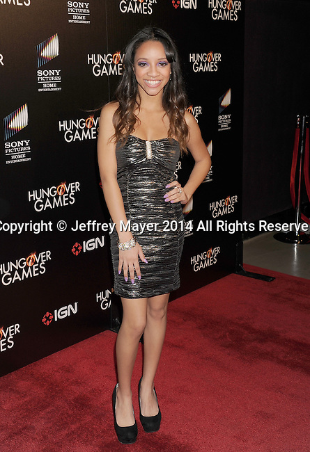 HOLLYWOOD, CA- FEBRUARY 11: Actress Chanel Gaines attends the Los Angeles Premiere of 'The Hungover Games' at TCL Chinese Theatre on February 11, 2014 in Hollywood, California.