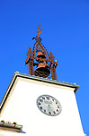 Clock tower and bell, Ayuntamiento building, Cuacos de Yuste, La Vera, Extremadura, Spain