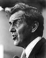 Maine Sen. Edmund Muskie running for President in 1971. (photo 1971/Ron Riesterer)