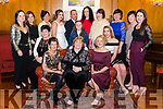 Launch of the Fashion Show in memory of Mary Kate Healy who passed away ten years ago in aid of Crumlin Hospital where she was when she died. Pictured front l-r Liz Cahill, Mary Healy, Sheila Crowley, mid l-r Ciara Cahill, Bridgit Richardson, Holy Richardson, Chloe Doona, Christine Tangney, back l-r Mary Kerin, Michelle Sheehan, Kerry Richardson, Niall Tangney, Norma O'Donoghue, Carmel Sheehan, Rachel O'Gorman and Juliette Sheehan in the Muckross Park Hotel, Killarney last Monday night.