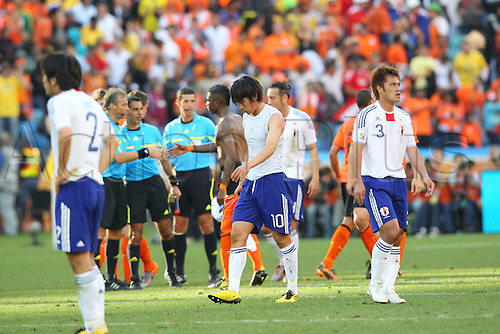hunsuke Nakamura (JPN), .JUNE 19, 2010 - Football : .2010 FIFA World Cup South Africa .Group Match -Group E- .between Netherlands 1-0 Japan .at Durban Stadium, Durban, South Africa. .