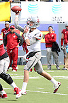 Luke Falk fires a pass during the annual Washington State Cougar spring game, the Crimson and Gray game, at Joe Albi Stadium in Spokane, Washington, on April 25, 2015.