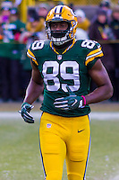 Green Bay Packers tight end Jared Cook (89) prior to a game against the New York Giants on January 8th, 2017 at Lambeau Field in Green Bay, Wisconsin.  Green Bay defeated New York 38-13. (Brad Krause/Krause Sports Photography)