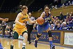 08 November 2015: Duke's Azura Stevens (11) strips the ball from Saint Leo's Izabell Skoogh (SWE) (13). The Duke University Blue Devils hosted the Saint Leo University Lions at Cameron Indoor Stadium in Durham, North Carolina in a 2015-16 NCAA Women's Basketball Exhibition game. Duke won the game 116-33.