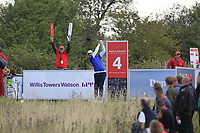 Gregory Havret (FRA) on the 4th tee during Round 4 of Made in Denmark at Himmerland Golf &amp; Spa Resort, Farso, Denmark. 27/08/2017<br /> Picture: Golffile | Thos Caffrey<br /> <br /> All photo usage must carry mandatory copyright credit     (&copy; Golffile | Thos Caffrey)