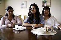 A middle class Roma family, Tina centre of image is studying at university in Slovakia.