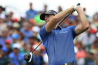 Brandan Steele (USA) tees off the 1st tee start his match during Sunday's Final Round of the 117th U.S. Open Championship 2017 held at Erin Hills, Erin, Wisconsin, USA. 18th June 2017.<br /> Picture: Eoin Clarke | Golffile<br /> <br /> <br /> All photos usage must carry mandatory copyright credit (&copy; Golffile | Eoin Clarke)