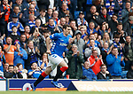 28.04.2019 Rangers v Aberdeen: Lee Wallace comes on to a standing ovation