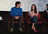 """LOS ANGELES - JUNE 3:   Alex Honnold and Chai Vasarhelyi attend an FYC event for National Geographic's """"FREE SOLO"""" at the Cinerama Dome on June 3, 2019 in Los Angeles, California. (Photo by Scott Kirkland/National Geographic/PictureGroup)"""