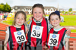 Aiveen O'Donovan, Mary Kate Smith and Roisín King from Glenbeigh Glencar at the Community Games finals at An Riocht on Saturday