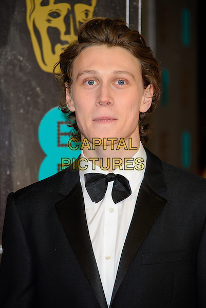 LONDON, ENGLAND - FEBRUARY 16: George MacKay attends EE British Academy Film Awards in 2014  at the Royal Opera House on February 16, 2014 in London, England.<br /> CAP/CJ<br /> &copy;Chris Joseph/Capital Pictures