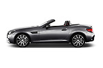 Car Driver side profile view of a 2017 Mercedes Benz SLC AMG 2 Door Convertible Side View