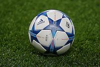 A UEFA Champions League Match Ball ahead of the UEFA Champions League match between Chelsea and Maccabi Tel Aviv at Stamford Bridge, London, England on 16 September 2015. Photo by David Horn.