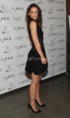 New York, NY-September 16: Katie Holmes attends DuJour Magazine cover unveiling at PHD Rooftop Lounge on September 16, 2014 at the Dream Hotel in New York City. Credit: John Palmer/MediaPunch